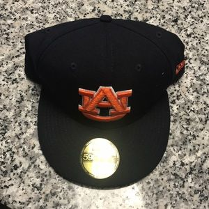 New Era fitted University of Auburn hat size 7 5/8